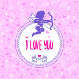 Cartão romântico Imagens de Stock
