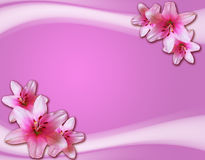 Cartão romântico com flores Imagem de Stock