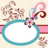 Cartão romântico do amor Fotografia de Stock