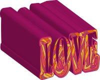 Cart?o rom?ntico do amor do dia de Valentim com cora??es Ilustra??o do vetor - dia do amor Cart?o para o 14 de fevereiro O amor d ilustração royalty free