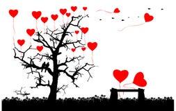 Cartão romântico do conceito do amor ilustração stock