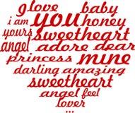 Cartão romântico do coração Fotos de Stock Royalty Free