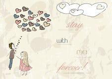 Cartão romântico do vintage. Ilustração Stock