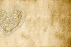 Cartão romântico velho com espaço da cópia Fotografia de Stock Royalty Free