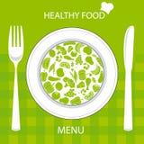 cartão saudável do alimento ilustração do vetor