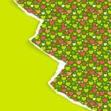 Cartão scrapbooking à moda do ano novo ou do Natal Foto de Stock