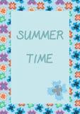 Cartão sem emenda colorido da ilustração do vetor da borboleta Foto de Stock
