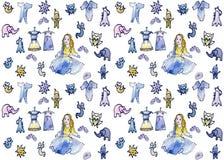 Cartão sem emenda do ponto dall1 do bebê mini ilustração royalty free