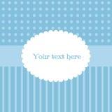 Cartão simples bonito em cores azuis e brancas Foto de Stock