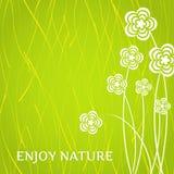 Cartão simples com flores Foto de Stock Royalty Free