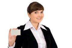 Cartão/sinal em branco Imagem de Stock