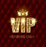 Cartão superior do vip com coroa e brilho ilustração royalty free