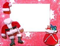 Cartão temático do ofício 3D de papel do Natal Imagens de Stock