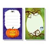 Cartão templates3 de Dia das Bruxas Imagem de Stock Royalty Free