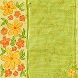 Cartão Textured com flores Imagens de Stock
