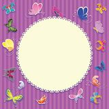 Cartão unisex para o bebê Fotos de Stock Royalty Free