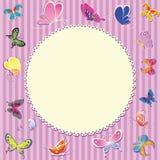 Cartão unisex para o bebê Fotos de Stock