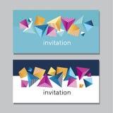 Cartão vívido abstrato de Horisontall Geometria da cor 3d do conceito Fotos de Stock