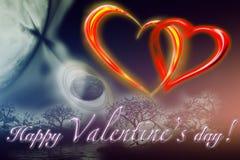 Cartão - Valentin Fotografia de Stock