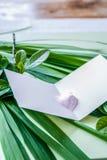 Cartão vazio com brilho foto de stock royalty free