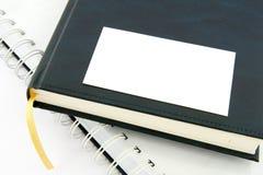 Cartão vazio com diário Imagens de Stock