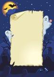 Cartão vazio de Halloween ilustração stock