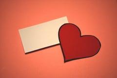 Cartão vazio do dia do ` s do Valentim Fotografia de Stock