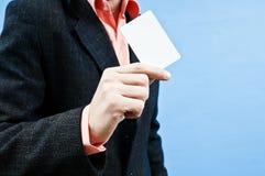 Cartão vazio do homem de Bussines Foto de Stock