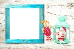 Cartão vazio do quadro da foto do Natal imagens de stock royalty free