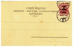 Cartão vazio do vintage de 1905 Fotos de Stock