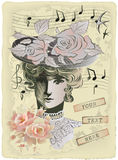 Cartão velho Imagem de Stock Royalty Free