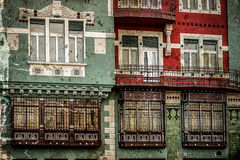 Cartão velho de uma construção histórica Timisoara 11 Foto de Stock