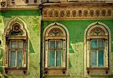 Cartão velho de uma construção histórica Timisoara, Romênia 16 imagens de stock