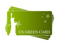 Cartão verde americano Fotografia de Stock Royalty Free