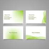 Cartão verde da identificação da ilustração do inclinação Foto de Stock