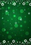 Cartão verde do Natal Fotos de Stock