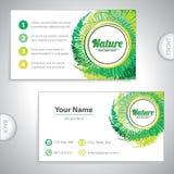 Cartão verde natural universal. Foto de Stock Royalty Free