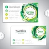 Cartão verde universal. Imagens de Stock