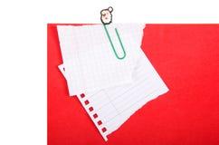 Cartão vermelho Fotos de Stock