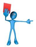 Cartão vermelho Imagem de Stock