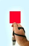 Cartão vermelho Fotografia de Stock Royalty Free