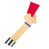 Cartão vermelho ilustração stock