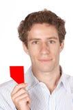 Cartão vermelho Fotografia de Stock