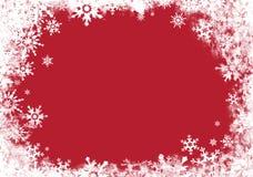 Cartão vermelho com beira Imagem de Stock Royalty Free
