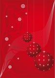 Cartão vermelho de ano novo Fotos de Stock