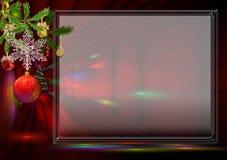 Cartão vermelho de ano novo Fotos de Stock Royalty Free