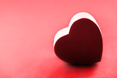 Cartão vermelho do amor Fotos de Stock
