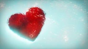 Cartão vermelho do coração Símbolo romântico do amor Dia do Valentim Fotos de Stock Royalty Free