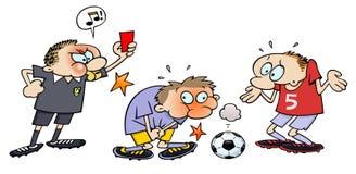 Cartão vermelho do futebol Imagens de Stock Royalty Free