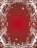 Cartão vermelho do inverno Imagens de Stock